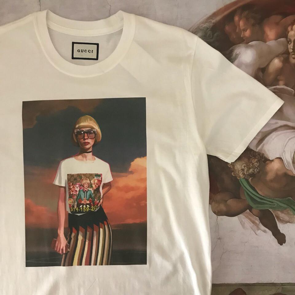 Белая футболка Gucci Girl. Люкс