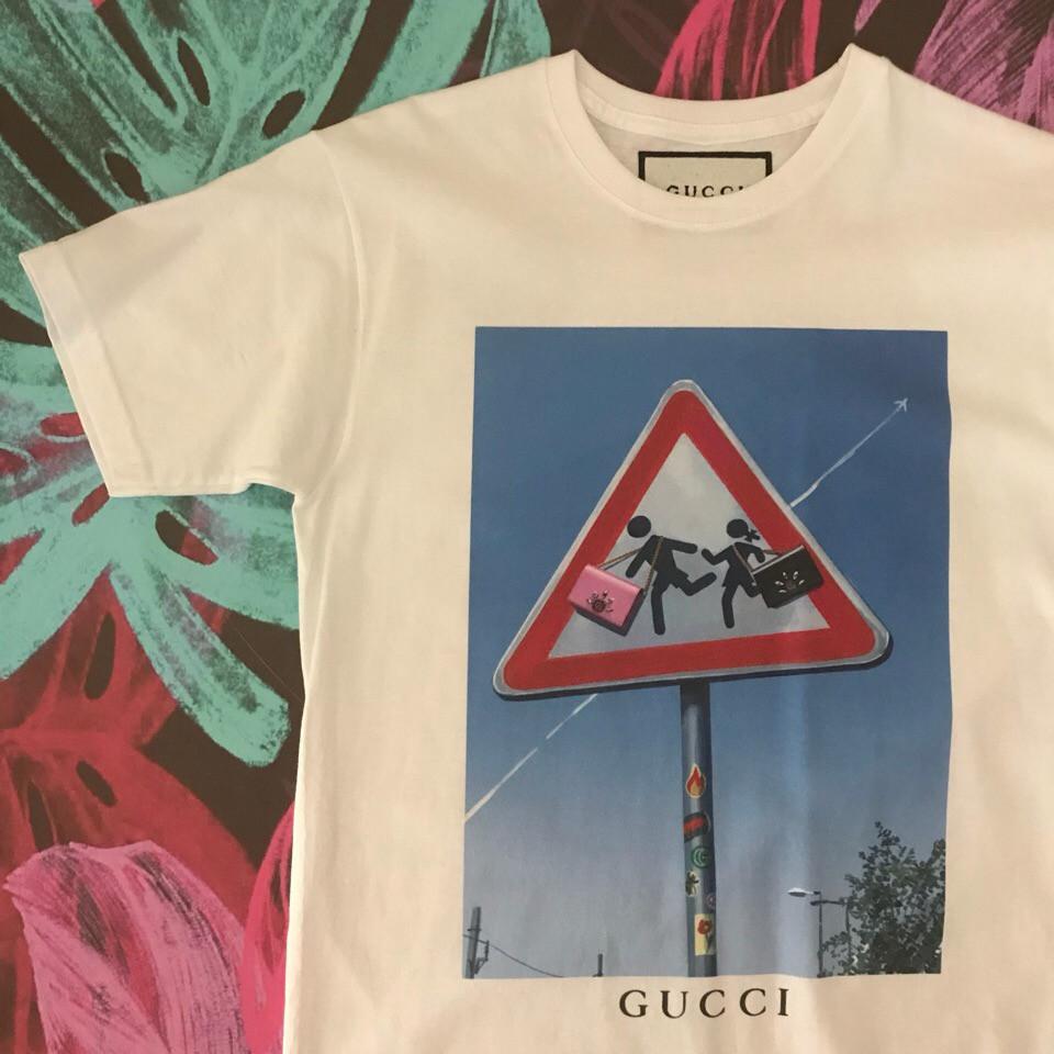 Белая футболка Gucci. Люкс