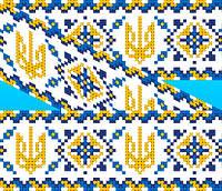 """Схема для вишивки на водорозчинному флізелін """"Орнамент-герб"""", фото 1"""