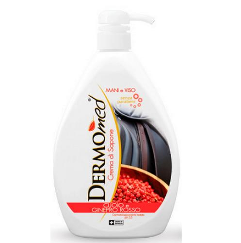 Dermomed крем-гель для душа с дозатором CUOIO E GINEPRO 1л