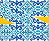 """Схема для вышивки на водорастворимом флизелине """"Орнамент сине-голубой"""""""