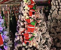 Дед Мороз на LED гирлянде (Санта Клаус ползущий по лестнице): лестница 100см, 3 фигурки по 30см