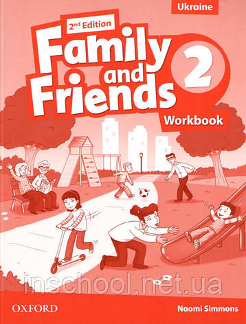 Family and Friends 2nd Edition 2 Workbook (Edition for Ukraine). ISBN: 9780194811217, фото 2