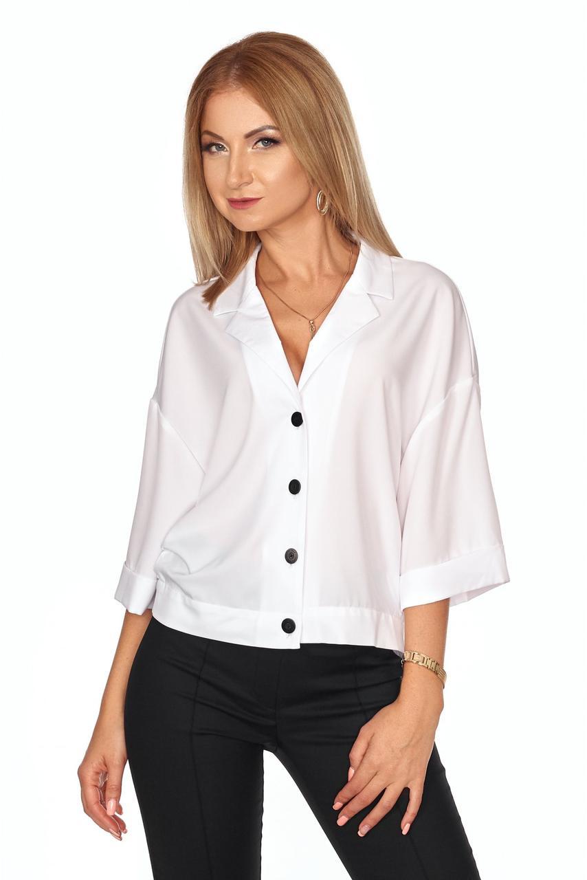 Красивая блуза-рубашка со спущенным плечевым швом
