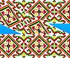 """Схема для вышивки на водорастворимом флизелине """"Орнамент закарпатский"""""""