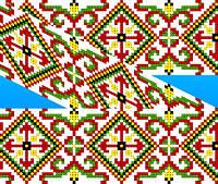 """Схема для вышивки на водорастворимом флизелине """"Орнамент закарпатский"""", фото 1"""