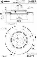 Тормозной диск передний  CHEVROLET, Опель (пр-во BREMBO 09.B355.10)