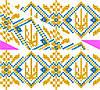 """Схема для вишивки на водорозчинному флізелін """"Орнамент-герб"""""""