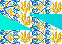 """Схема для вышивки на водорастворимом флизелине """"Орнамент-герб"""""""