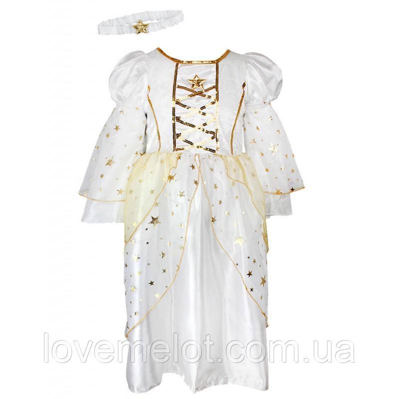 """Платье праздничное новогоднее карнавальное """"Фея или ангел"""" в наборе с повязкой, рост 98 для девочки"""