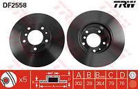 Тормозной диск передний  БМВ 5/ 7 (пр-во TRW DF2558)