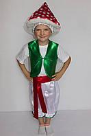 Премиум! Мухомор Костюм Карнавальный для мальчика, Комплектация 4 Элемента, Размеры 3-6 лет, Украина