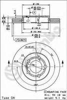 Тормозной диск передний  Ауди, Сиат, Шкода, Фольксваген (пр-во BREMBO 09.7011.14)