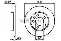 Тормозной диск задний  Ауди, Шкода, Фольксваген (пр-во BOSCH 0986478481)