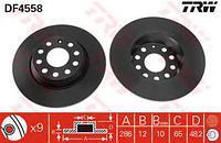 Тормозной диск задний  Ауди, Сиат, Шкода, Фольксваген (пр-во TRW DF4558)