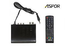 Комплект ТВ-тюнер Aspor 603 ресивер для цифрового телевидения T2 + WiFi USB адаптер с антенной, фото 2