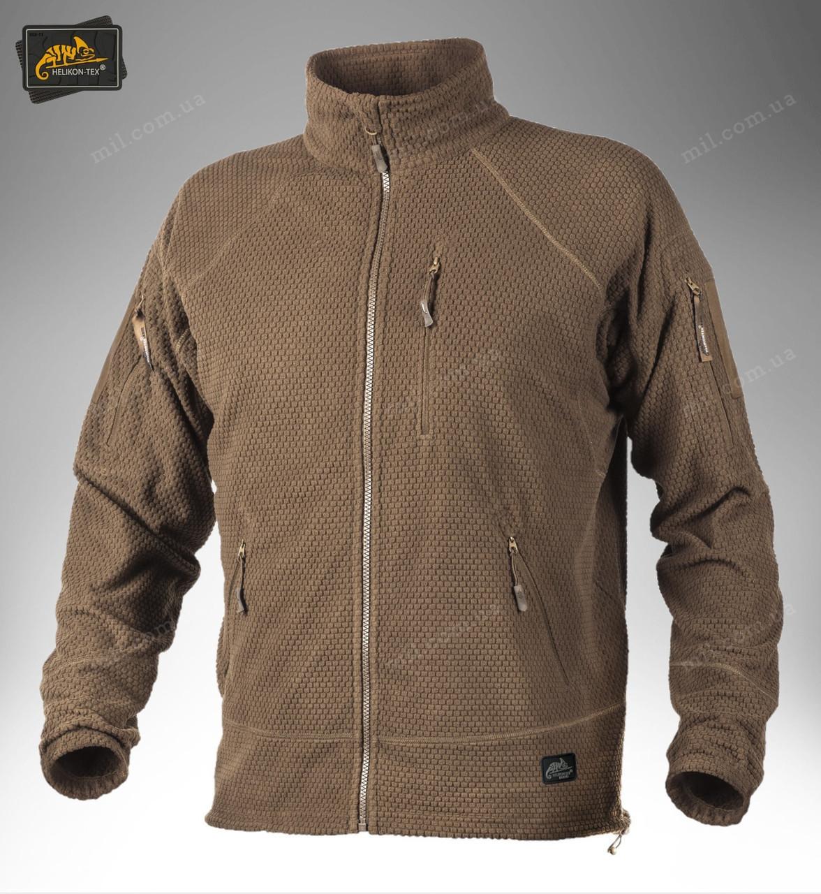Тактическая флисовая куртка/ кофта Helikon-Tex® ALPHA TACTICAL (coyote)