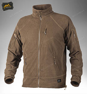 Тактическая флисовая куртка/ кофта Helikon-Tex® ALPHA TACTICAL (coyote), фото 2