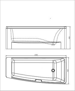 Ванна акриловая VOLLE TS-102 (правая), фото 2