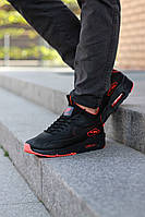 Мужские зимние кроссовки Nike air max 90 Sneakerboot Black/red