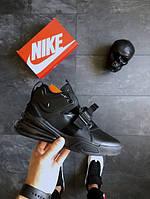 Nike Air Force 270 Triple Black, Реплика люкс, фото 1