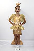 Премиум! Золотая Рыбка Карнавальный Детский Костюм, Комплектация 3 Элемента, Размеры 5-6 лет, Украина