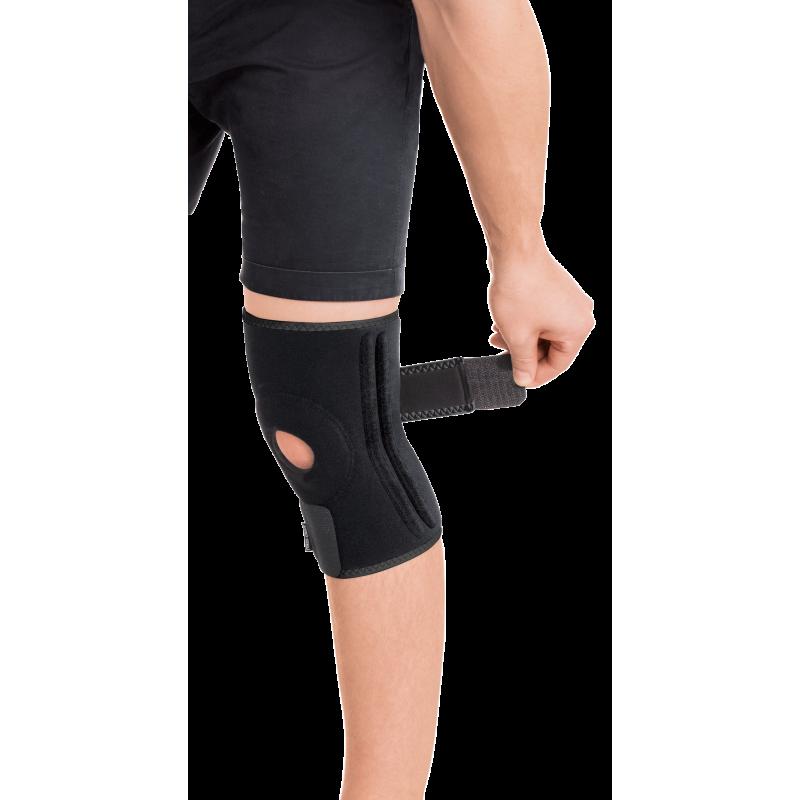 Бандаж для коленного сустава с 4-мя ребрами жесткости разъемный неопреновый
