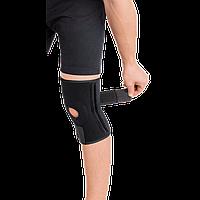 Бандаж для коленного сустава с 4-мя ребрами жесткости разъемный неопреновый , фото 1