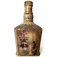 Подарок моряку на новый год Оригинальный декор бутылки в морском стиле Ручная работа