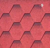 Гибкая черепица РуфШилд (RoofShield) Стандарт Красный с оттенением