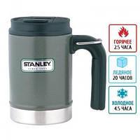Термокружка с крышкой Stanley Classic Camp (0.47л), зеленая