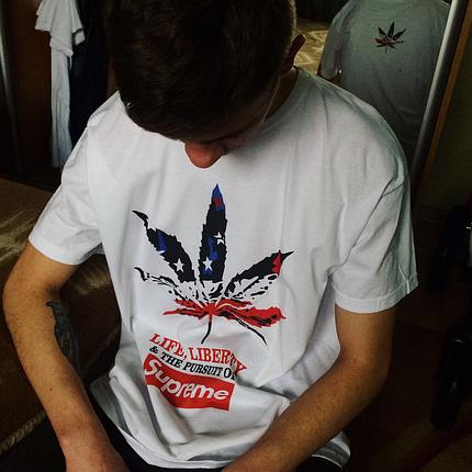 Supreme Cannabis футболка. Цифровой принт 💚, фото 2