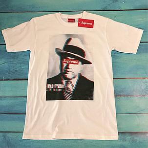 Supreme Al Capone • Футболка белая • Люкс , фото 2