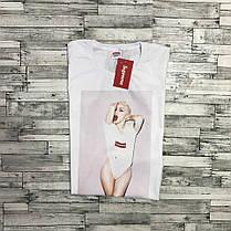 Supreme Lady Gaga футболка женская белая • Оригинальные фотки • Вшитая бирка, фото 3