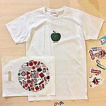 Supreme apple shirt. Футболка мужская белая. Бирка Суприм, фото 2