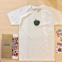 Supreme apple shirt. Футболка мужская белая. Бирка Суприм, фото 3
