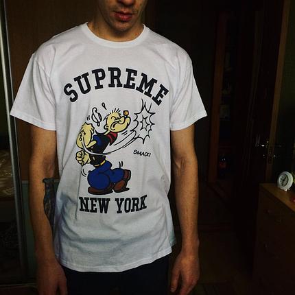 Supreme футболка топовая. Живые фотки. Бирка Суприм. Все размеры, фото 2