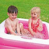 """Детский бассейн """"Квадратный"""" Intex 85х85х23 (57100) (Розовый), фото 4"""