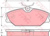 Тормозные колодки передние  Рено Клио/ LAGUNA Estate/ LAGUNA I/ LAGUNA I I/ Меган I (пр-во TRW GDB1405)