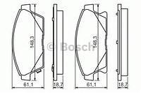 Тормозные колодки передние  CHEVROLET, Опель (пр-во BOSCH 0986494434)
