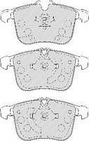Тормозные колодки передние  Опель, Сааб, CADILLAC (пр-во FERODO FDB1833)