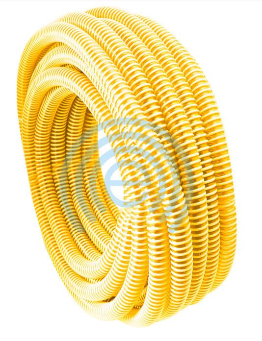 Шланг гофра Evci Plastik вакуумная желтая диаметр 40 мм, длина  25 м.