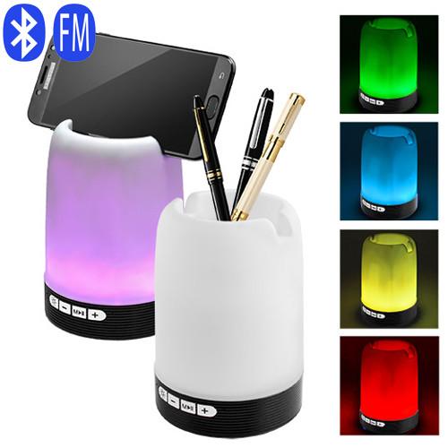 Bluetooth-колонка HF-Q6, подставка под телефон, стакан для ручек, светильник, радио, speakerphone