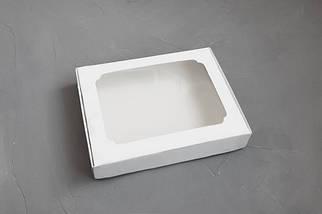 """Картонная коробка для пряников """"Белая с окном 15*20*3 см"""" ( 5шт)"""
