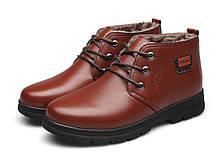 Теплые деловые мужские ботинки туфли, фото 3
