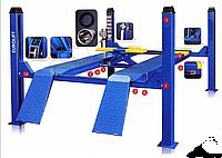 Подъемник 4-х стоечный для развал-схождения Eurolift 4.0т (4000кг, 4858мм), фото 1