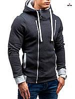 Мужская толстовка на молнии с капюшоном, фото 1