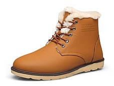 Стильні матові зимові чоловічі ділові черевики, фото 3