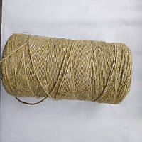 Шпагат банковский  льняной  1,0мм  с п/п ниткой, фото 1