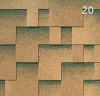 Битумная черепица Гибкая РуфШилд (RoofShield) Модерн 20 Сандаловый